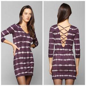 UO | ecote tie dye open back dress festival boho